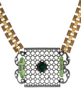 Lulu Frost Openwork Crystal Pendant Necklace