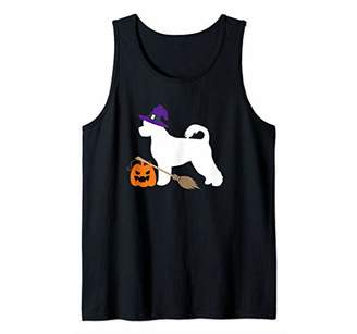 Portuguese Water Dog Witch Hat Halloween Dog Costume Tank Top