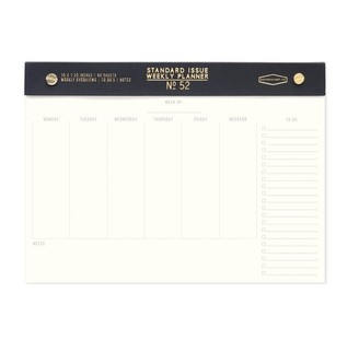 Designworks Weekly Desk Planner Standard Issue