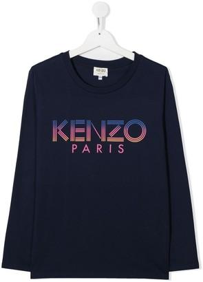 Kenzo Kids graphic-print crew neck Tee