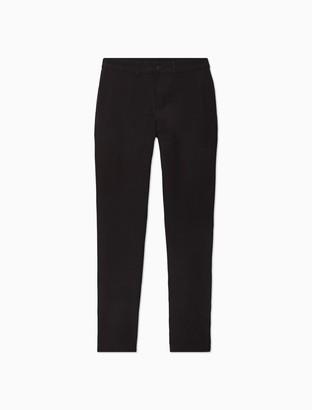 Calvin Klein Solid 4-Pocket Flat Front Pants