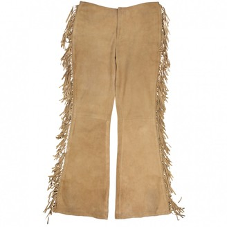 Polo Ralph Lauren Camel Suede Trousers