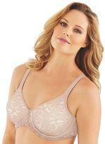 Lilyette Bras: Beautiful Support Lace Full-Figure Minimizer Bra LY0977