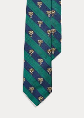 Ralph Lauren Stripes & Tiger Narrow Tie