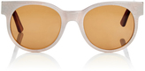 Zanzan Avida Dollars Oversized White Sunglasses