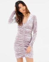 Miss Selfridge Velvet Rouched Dress