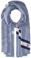 Tory Burch Gemini Link Striped Oblong Scarves