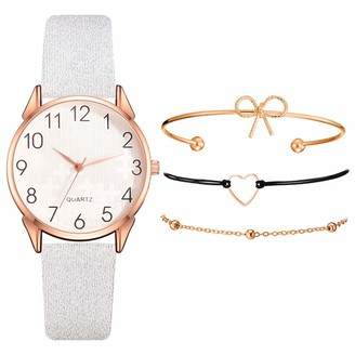 LABIUO Fashion Small And Delicate European Beauty Simple Casual Bracelet Watch Suit