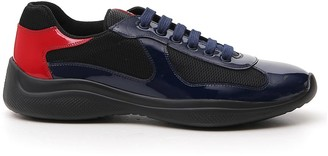 Prada Panelled Lace-Up Sneakers