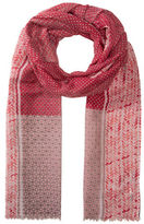 Olsen Multi Printed Fringed Scarf