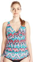 Christina Women's Desert Praise Crossover Tankini with Adjustable Drawstrings