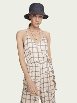Scotch & Soda High waisted wide-leg printed jumpsuit | Women