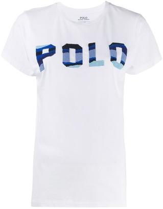 Polo Ralph Lauren beaded logo cotton T-shirt