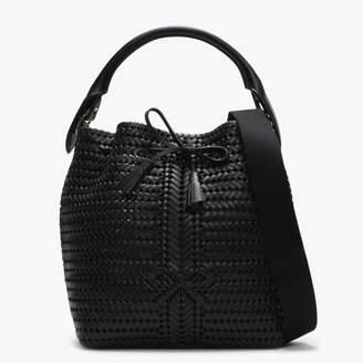 Anya Hindmarch Neeson Black Leather Drawstring Bag