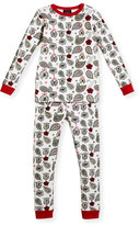 BedHead Love to Give Floral Pajama Set, Black/White, Size 10-12