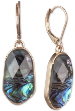 lonna & lilly Gold-Tone Stone Medium Drop Earrings