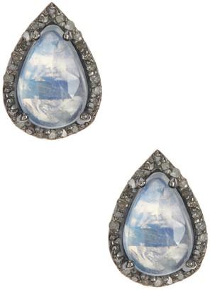 ADORNIA Moore Moonstone & Champagne Diamond Earrings