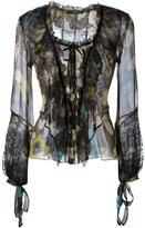 Etro flower print longsleeved blouse - women - Silk/Polyamide/Viscose - 44