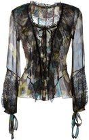 Etro flower print longsleeved blouse