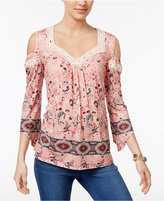 Style&Co. Style & Co Bell-Sleeve Cold-Shoulder Top, Created for Macy's