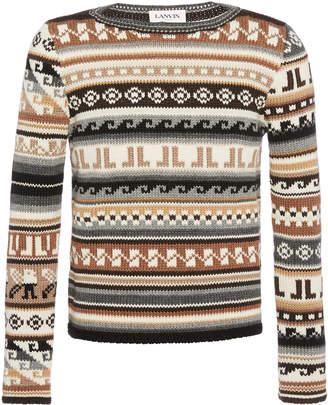 Lanvin Ribbed Knit Pattern Sweater