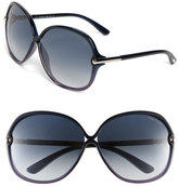 Tom Ford Women's Oversized Sunglasses - Shiny Blue To Violet/ Gradient
