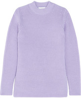 Carven Split-side Ribbed Wool Sweater - Lilac