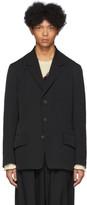 Yohji Yamamoto Black Wool Short Flap Blazer