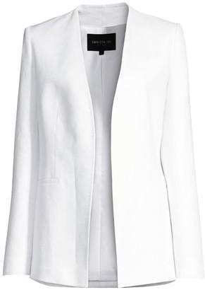 Lafayette 148 New York Miranda Linen Open Jacket