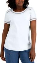 Thumbnail for your product : Karen Scott Crochet-Trim T-Shirt, Created for Macy's