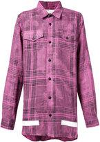 Off-White oversize check shirt - men - Linen/Flax - XS