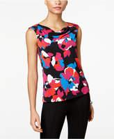 Kasper Floral-Print Shell