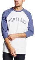 New Look Men's Portland Raglan Long Sleeve Crew Neck T-Shirt