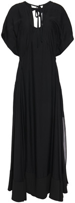 3.1 Phillip Lim Cutout Layered Silk-crepe And Crepe De Chine Maxi Dress