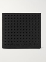 Alexander McQueen Perforated Leather Billfold Wallet