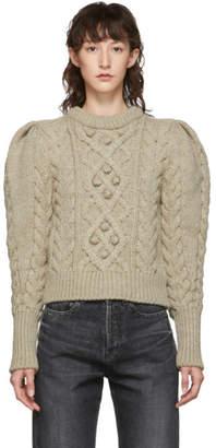Isabel Marant Beige Wool Milford Sweater
