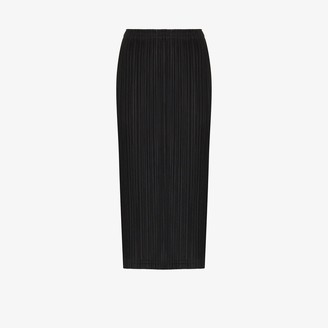 Pleats Please Issey Miyake Plisse Pleated Midi Skirt