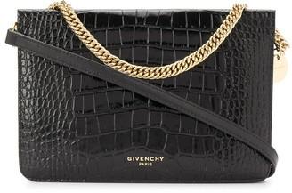 Givenchy Cross3 crocodile-effect crossbody bag
