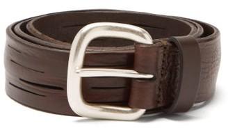 Andersons Split-line Leather Belt - Mens - Brown