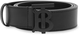 Burberry Matte Monogram Motif Leather Belt