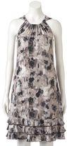 MSK Women's Print Ruffle Halter Dress