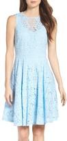 Gabby Skye Women's Lace Fit & Flare Dress