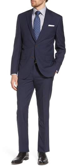 David Donahue Ryan Classic Fit Houndstooth Wool Suit