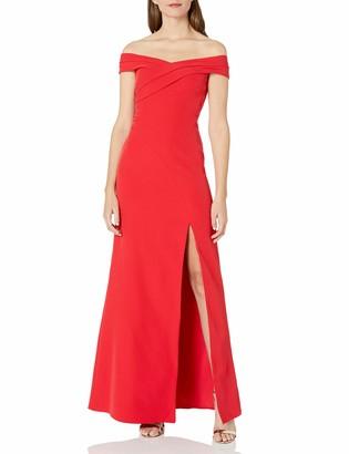 Aidan Mattox Aidan Women's Off Shoulder Gown