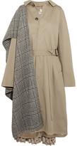 Balenciaga Oversized Paneled Cotton-twill Trench Coat - Beige
