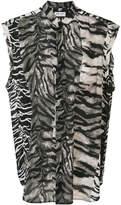 Saint Laurent tiger print blouse