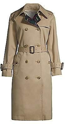 MACKINTOSH Women's Muirkirk Wool Plaid & Cotton Twill Trench Coat