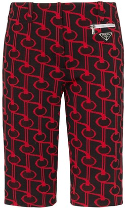 Prada Jacquard cycling shorts
