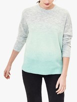 Oasis Ombre Fluffy Knit Jumper, Multi/Green