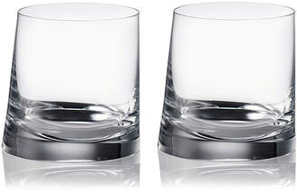 Rogaska 90 Degrees Double Old-Fashioned Glasses, Set of 2